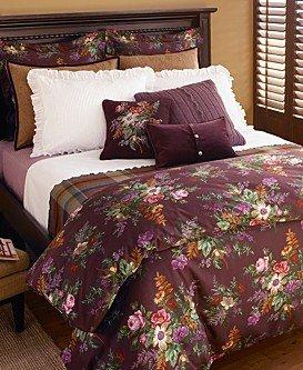 RALPH LAUREN Brittany Queen Comforter  Purple Floral