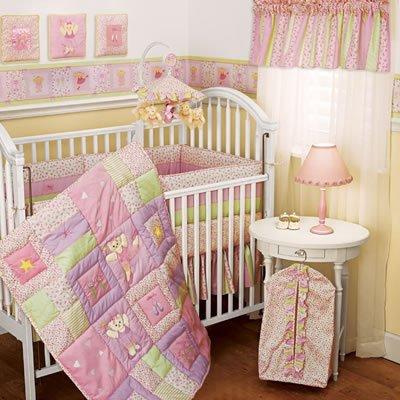 New LAMBS & IVY Collection TUTU TEDDY 4 PC Crib Set Ballerina Bear Pink FREE SHIP TO THE USA