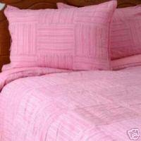 Liz Claiborne Strie Pink Twin Duvet Cover Set Sham Bedskirt Pillow