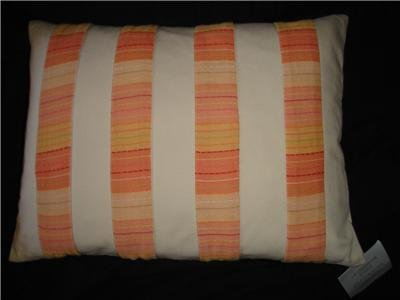 Liz Claiborne Bridget Orange Throw Toss Pillow
