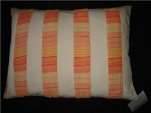 Liz Claiborne Bridget Orange Throw Toss Pillow