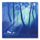 "Canvas Print 16x16"" of Painting 'Secret Forest'"