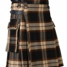 58 Inches Waist Men's Scottish Tartan Utility Modern Kilt with Pockets - Ancient Rose Tartan