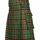 30 Inches Waist Men's Scottish Tartan Utility Modern Kilt with Pockets - Tara Murphy Tartan