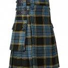 56 Inches Waist Men's Scottish Tartan Utility Modern Kilt with Pockets - Anderson Tartan