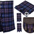 40 Chest Waist 8 Yard Traditional Scottish Tartan KILT & ACCESSORIES - Pride of Scotland Tartan