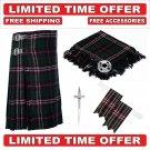40 size Scottish National Scottish 8 Yard Tartan Kilt Package Kilt-Flyplaid-Flashes-Kilt Pin-Brooch