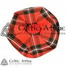 New Handmade Scottish TAM O' SHANTER Flat Bonnet Hat / TAMMIE Cap Tartan Macgreggor