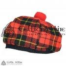 New Handmade Scottish TAM O' SHANTER Flat Bonnet Hat / TAMMIE Cap Tartan Wallace