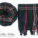 Scottish Traditional Tam o 'Shanter' Flat Bonnet Hat With Scarf 100% Acrylic Scottish National