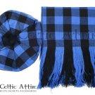 Scottish Traditional Tam o 'Shanter' Flat Bonnet Hat With Scarf 100% Acrylic Buffalo Plaid Tartan