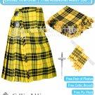 Premium -McLeod Of Lewis Fabric 16 Oz - Scottish 8 Yard Tartan Kilt and Accessories 36 size