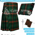 Premium -Rose Hunting Fabric 16 Oz - Scottish 8 Yard Tartan Kilt and Accessories 38 size