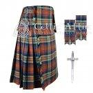 Premium - IRN BRU Fabric 16 Oz- Scottish 8 Yard Tartan Kilt and Accessories 36 size