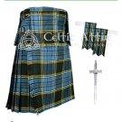 Premium - Anderson Fabric 16 Oz- Scottish 8 Yard Tartan Kilt and Accessories 30 size