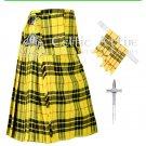 Premium -Macleod Of Lewis Fabric 16 Oz- Scottish 8 Yard Tartan Kilt and Accessories 50 size