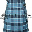 US Navy - Scottish TARTAN UTILITY Modern KILT for Men - 16 Oz Acrylic Fabric size 44