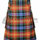 LGBTQ Pride - Scottish TARTAN UTILITY Modern KILT for Men - 16 Oz Acrylic Fabric size 36