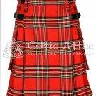 Royal Stewart Kilt - Scottish TARTAN UTILITY Modern KILT for Men - 13 Oz Acrylic size 34