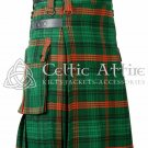Ross Hunting- Scottish TARTAN UTILITY Modern KILT for Men - 16 Oz Acrylic size 38