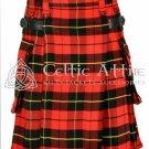 Clan Wallace Kilt - Scottish TARTAN UTILITY Modern KILT for Men - 13 Oz Acrylic size 42