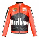 New Customized MARLBORO Racing Leather Motorbike Racing Jacket Small Size Free Shiping
