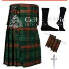 Premium- Ross Hutning Modern Fabric 16 Oz - Scottih 8 Yard Tartan Kilt and Accessories size 46