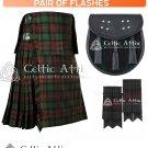 8 Yard Traditional Scottish Tartan KILT & ACCESSORIES- Clan Tartan Brown Watch  size 46