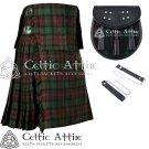 8 Yard Traditional Scottish Tartan KILT & ACCESSORIES- Clan Tartan Brown Watch size 48