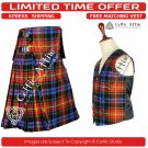 8 Yard Traditional Scottish KILT & ACCESSORIES- Clan Tartan LGBTQ size 48