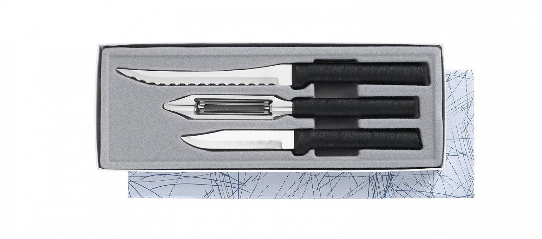 Peel, Pare & Slice Gift Set Black Handle.