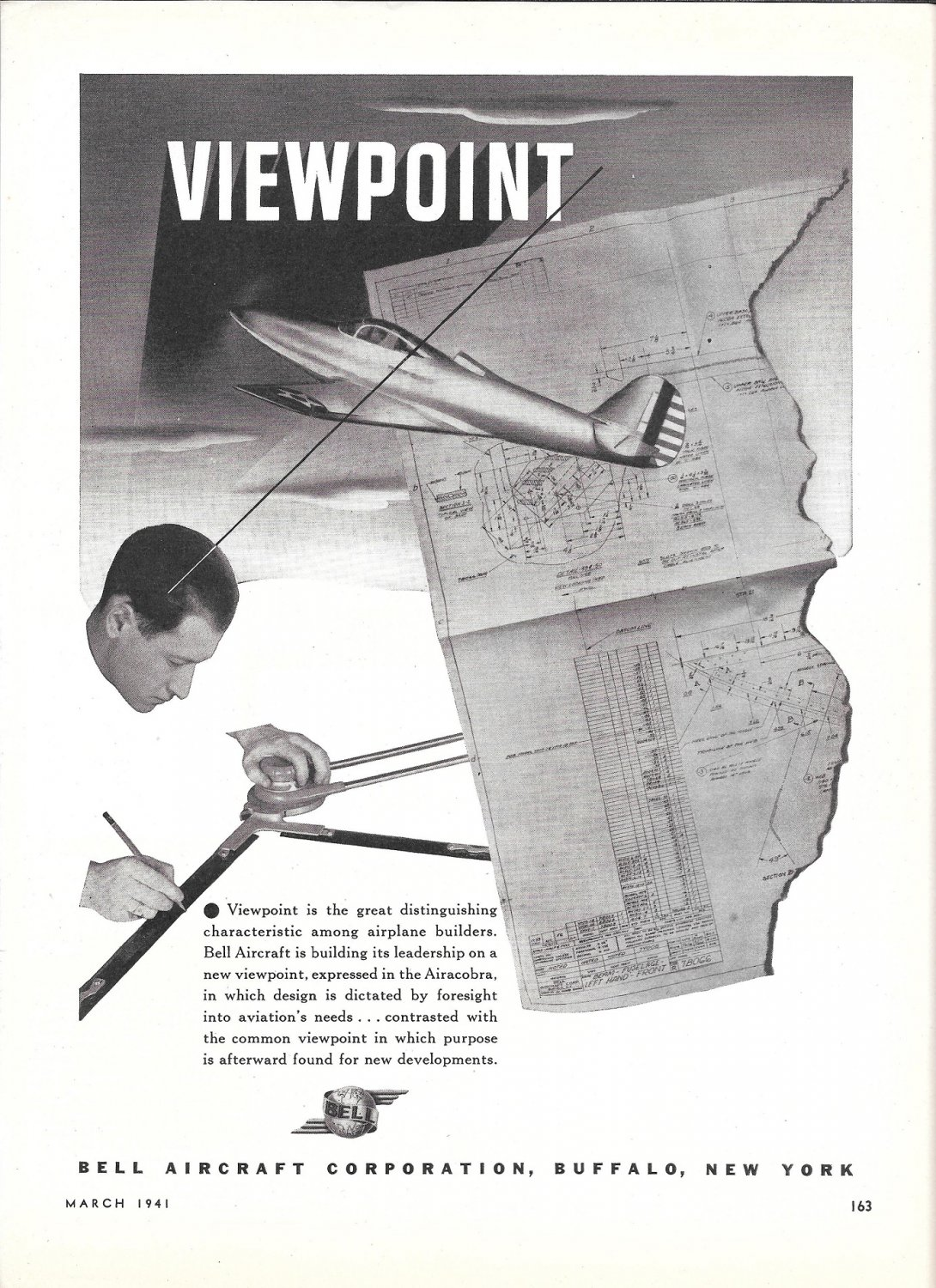 1941 Bell Aircraft Corp Viewpoint Ad Bulders Plans
