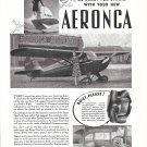 1941 Aeronca Super Chief Plane Ad Be Ready For Spring