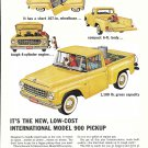 1963 International Model 900 Pickup Truck Ad New Low Cost