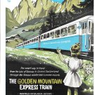 1949 Golden Mountain Express Train Lake Of Geneva To Switzerland Ad