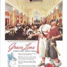 1939 Grace Ship Lines Dining Room Ad Pirates
