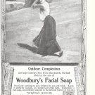 Old Woodbury's Facial Soap Woman Golfer Ad