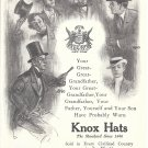 1910 Knox Mens Hats Styles 1840 To 1910 Ad