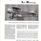 1935 Waco 4 Place Custom Cabin Plane Ad Writes Air History