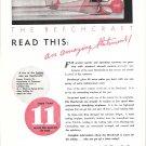 1935 Beechcraft Plane Read This Amazing Statement Ad