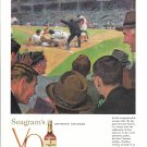 1958 Seagram's V.O. Whisky Brilliant Conclusion To World Series Baseball Ad