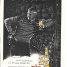 1959 Miller High Life Beer Man At Ski Lodge Ad