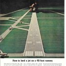 1963 TWA Airlines How To Land A Jet On A 40 Foot Runway Ad Pilot