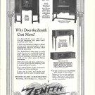 1925 Zenith Radio 4 Models Ad
