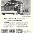 1953 Chevrolet Trucks Pickup & Platform Can Cut Costs On Your Farm Ad