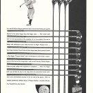 1931 Walter Hagen Pro Golfer Matched Golf Clubs Ad