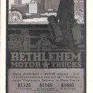 1917 Bethlehem Motor Trucks Loading Milk Ad
