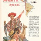 1951 Pan American Grace Airways South America Tourists Ad