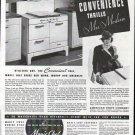 1937 Magic Chef Gas Range Ad Convenience Thrills Mrs. Modern