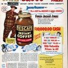 1953 Jackie Gleason Nescafe Instant Coffee Ad